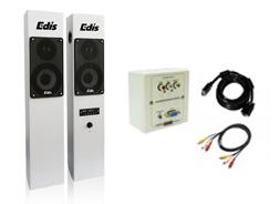 KIT PANORAMICO ACC. CAJA CONEXIONES VGA /AUDIO+ALTAV 80W INTEGRABLES
