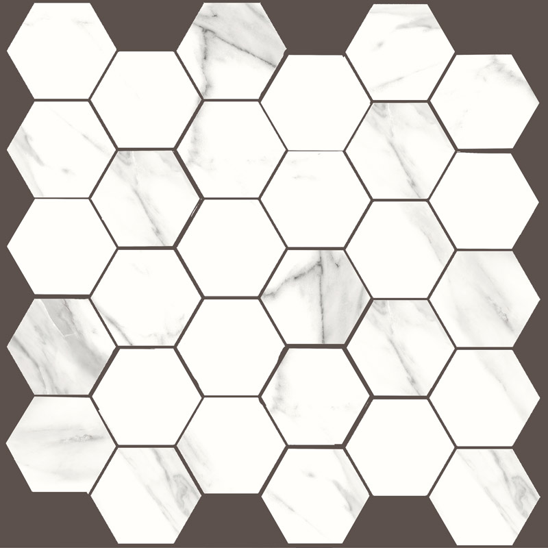 Durstone Mesh Hex Mable Statuario 30x30