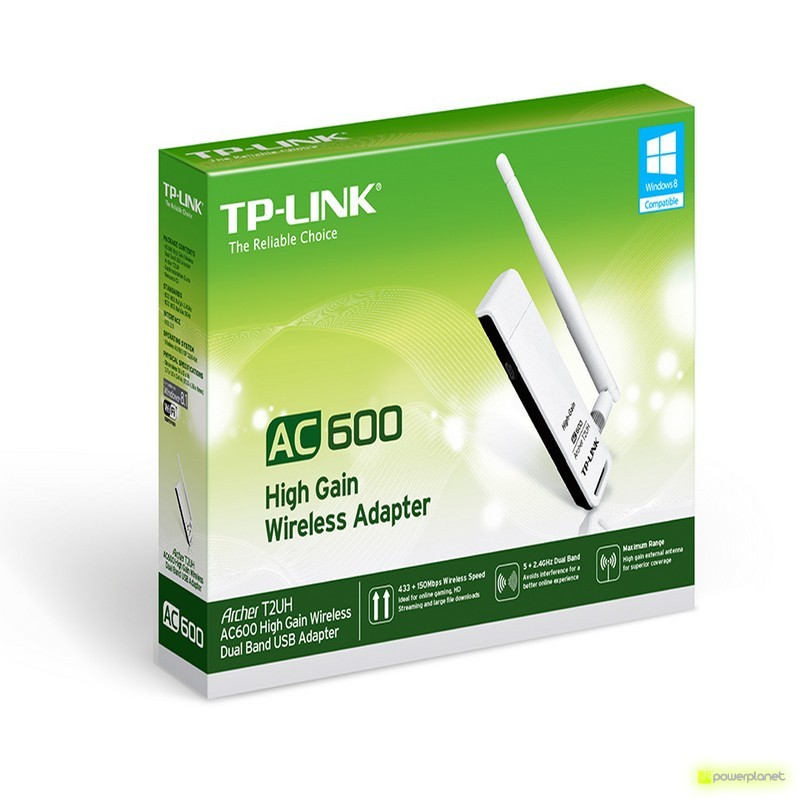 TP-Link Archer T2UH Wireless USB Adapter High gain dual band AC600 - Item1