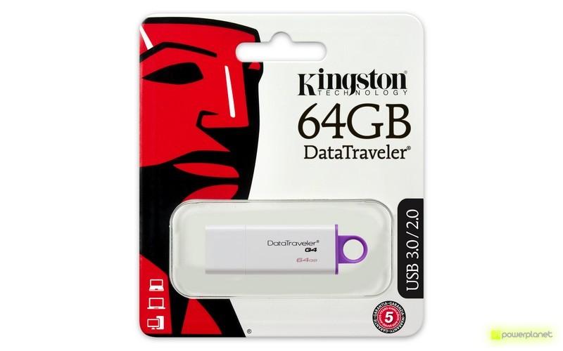 Kingston Technology DataTraveler G4 64GB 64GB USB 3.0 Púrpura, Color blanco unidad flash USB - Ítem3
