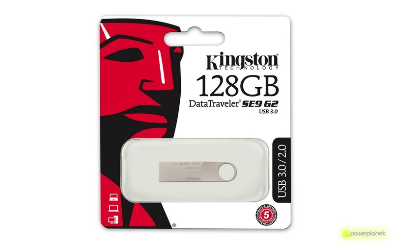 Kingston Technology DataTraveler SE9 G2 128GB 12GB USB 3.0 Prateado unidade de memória USB - Item1