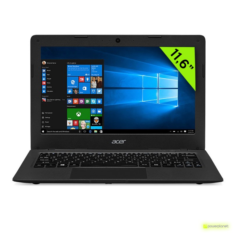 Laptop Acer Aspire One Cloudbook 11 - Intel Celeron N3050 - 2 GB RAM - 32 GB SSD - Dedicated Graphics - 11.6