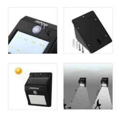 Aplique LED Solar Mpow con Sensor Movimiento MSL3 - Ítem2
