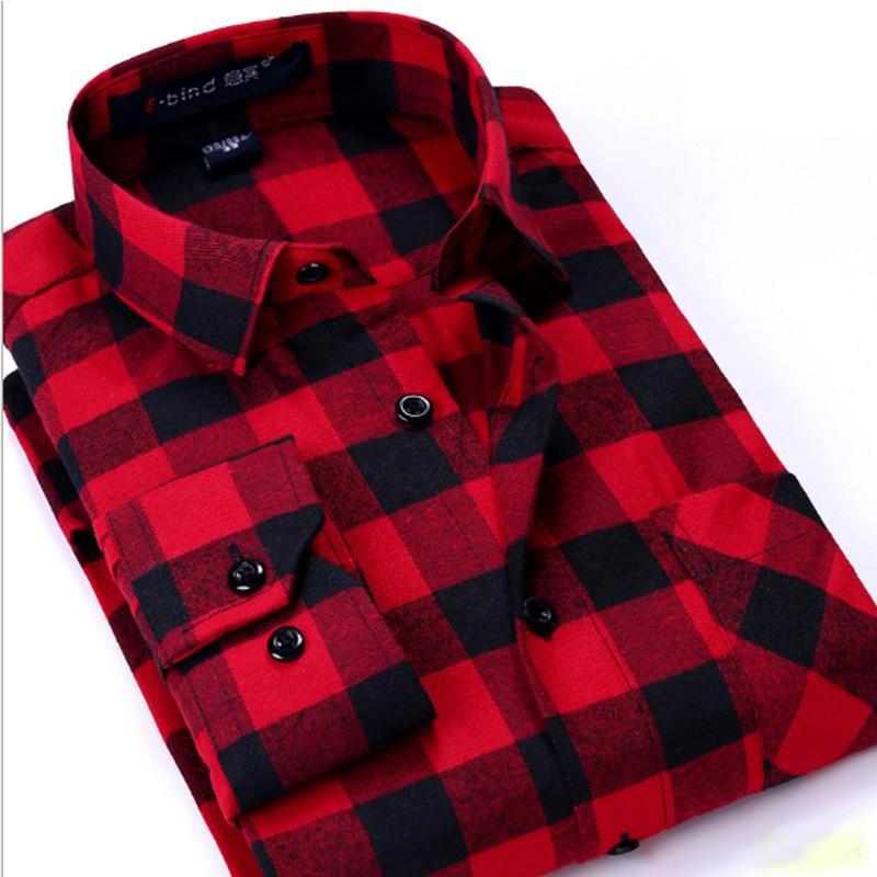 Camisa de Cuadros Rojo y Negro - Hombre