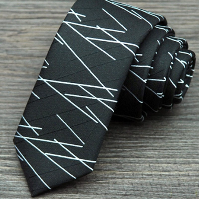 Corbata Slim a rayas - Hombre