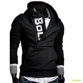 Suéter Lateral Zipper black and white - Homen - Item