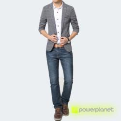 Blazer Exclusive de Linen Cinza - Homen - Item1