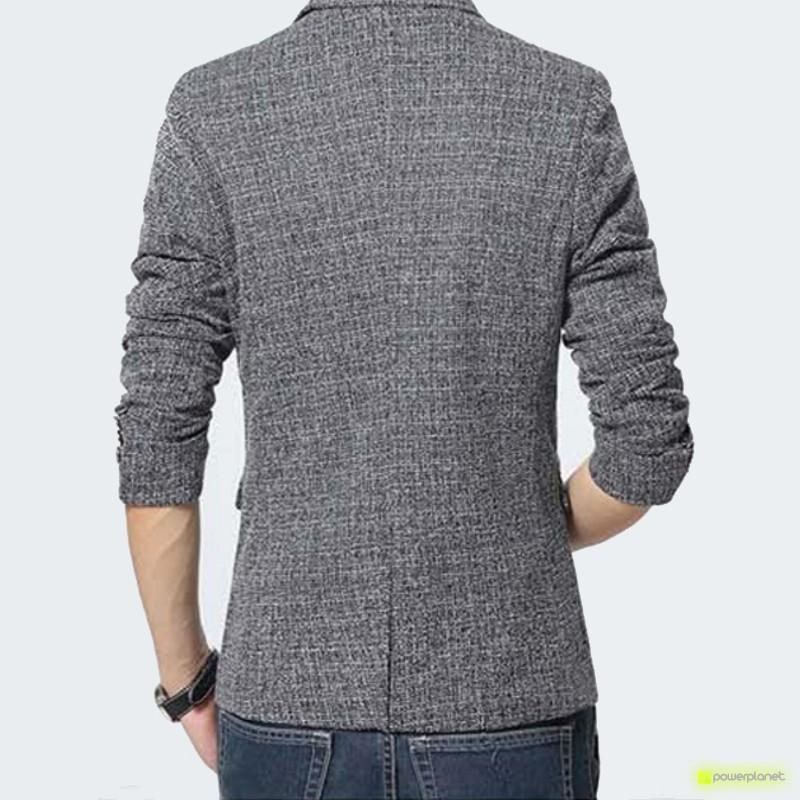 Blazer Exclusive de Linen Cinza - Homen - Item2
