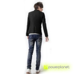 Blazer Slim Fit Casual Preto - Homen - Item2