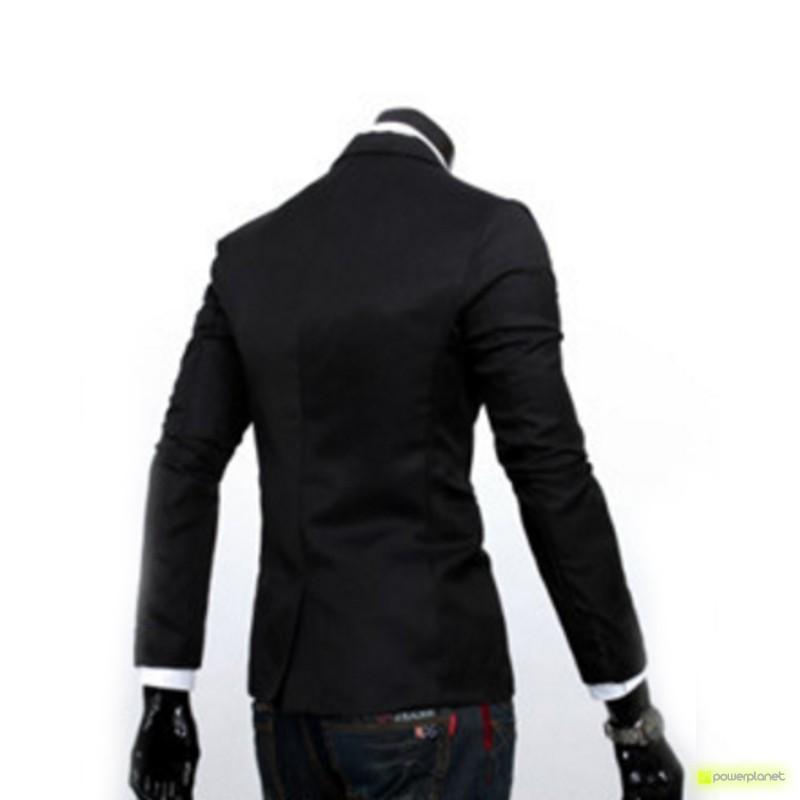 Blazer Slim Fit Casual Negro - Hombre - Ítem3