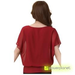 Blusa Vermelha Morcego - Item1