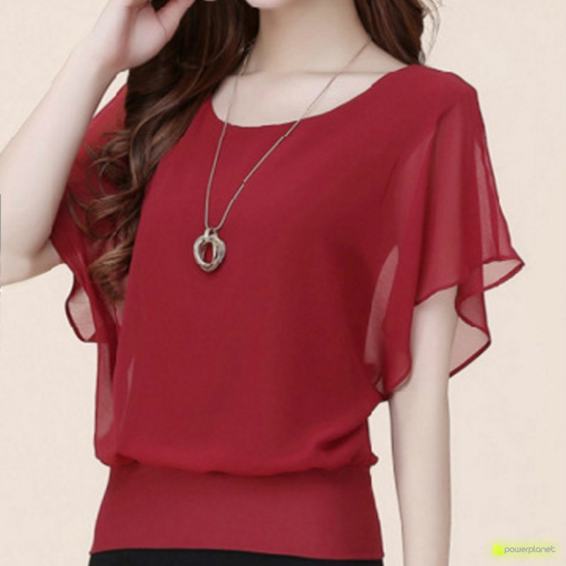 Blusa Vermelha Morcego - Item3