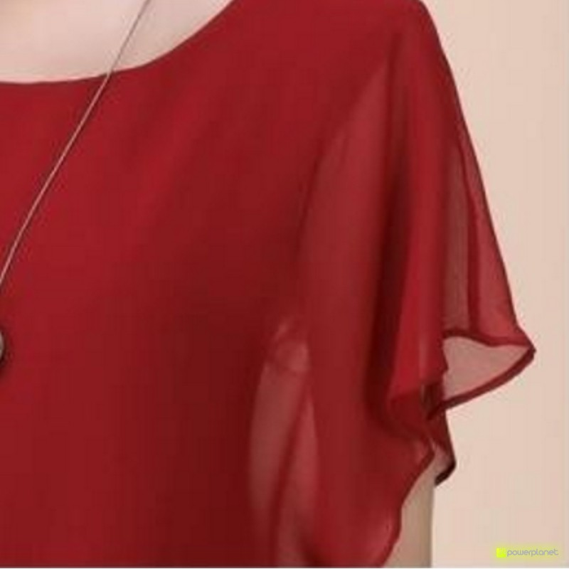 Blusa Vermelha Morcego - Item4