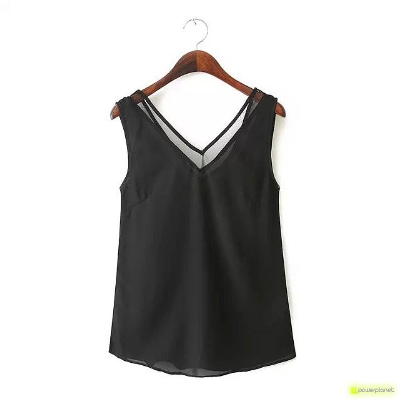 Blusa Negra Espalda en V - Ítem3