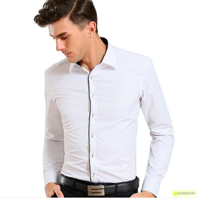 Camisa Basic Manga Comprida Branco - Homen
