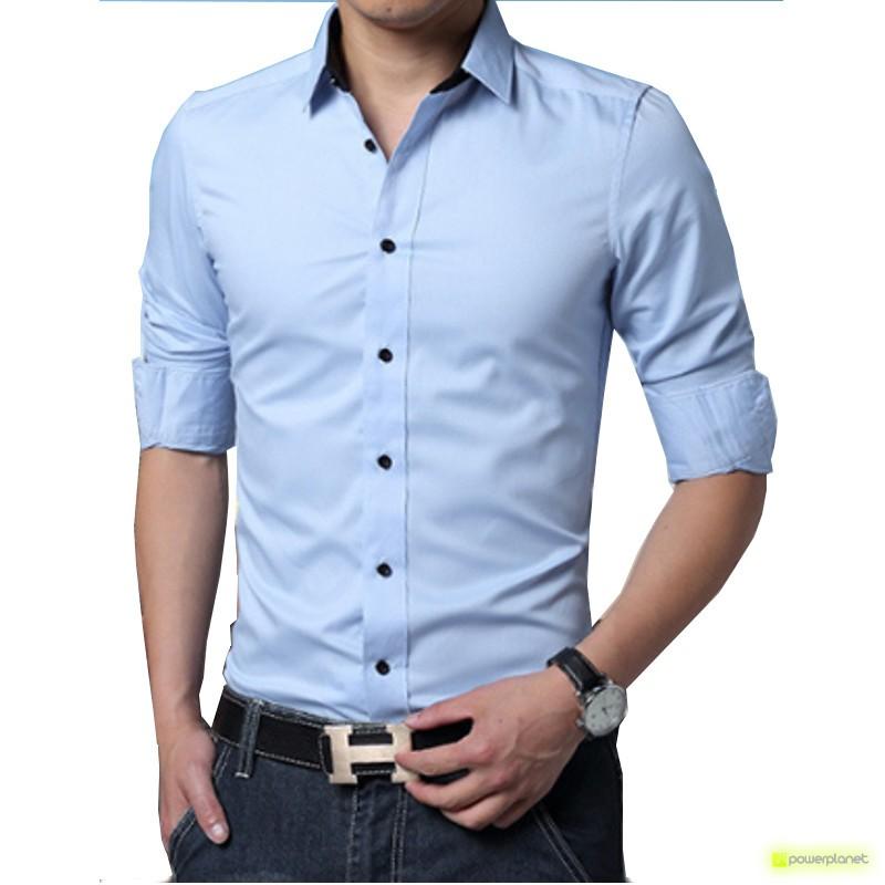 Camisa Basic Azul - Hombre