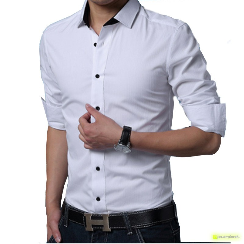 Camisa Basic Line Branco - Homen - Item
