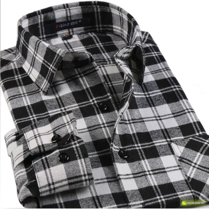 Camisa Charts Cinza e Preto - Homen