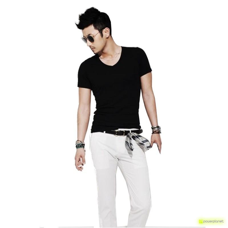 Camiseta Básica Negro - Hombre