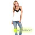 Blusa Blanca Cuello en V