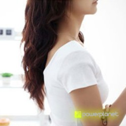 Camiseta Blanca Básica Cuello en U - Ítem2