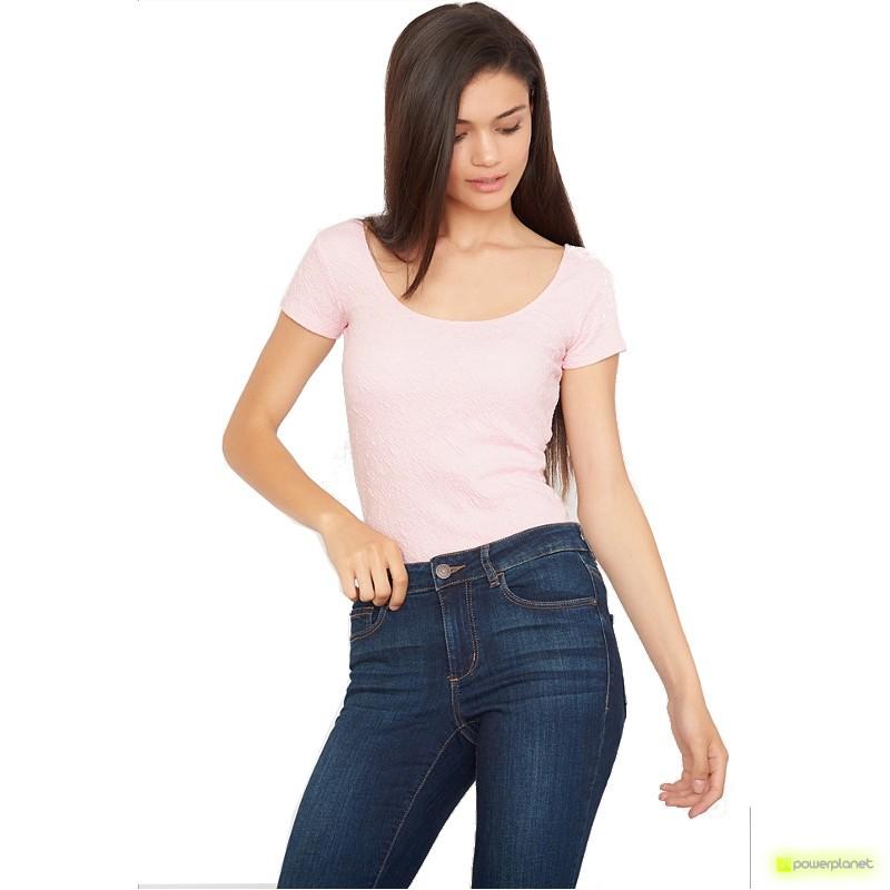Shirt Short Sleeve Relief Rosa - Mulher
