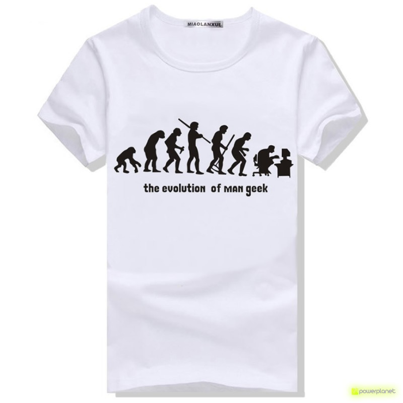 Camiseta Evolution Man Geek