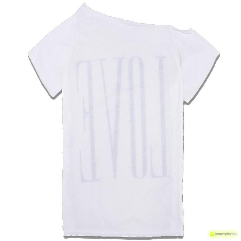 Camisa Print LOVE Branca - Item1