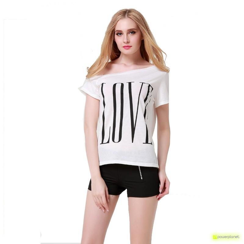 Camisa Print LOVE Branca - Item2