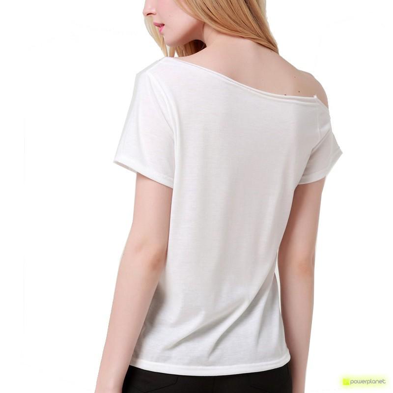 Camisa Print LOVE Branca - Item3