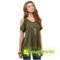 Camisa Verde Ombro Descoberto