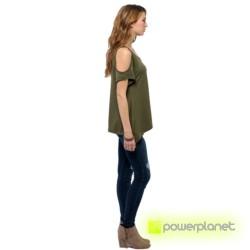 Camisa Verde Ombro Descoberto - Item1