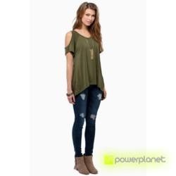 Camiseta Verde Hombro Descubierto - Ítem2