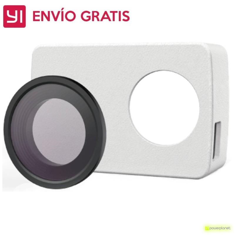 Case couro + Lente UV para Yi Action 4K