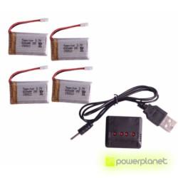 Carregador múltiplo bateria Drone - Item1