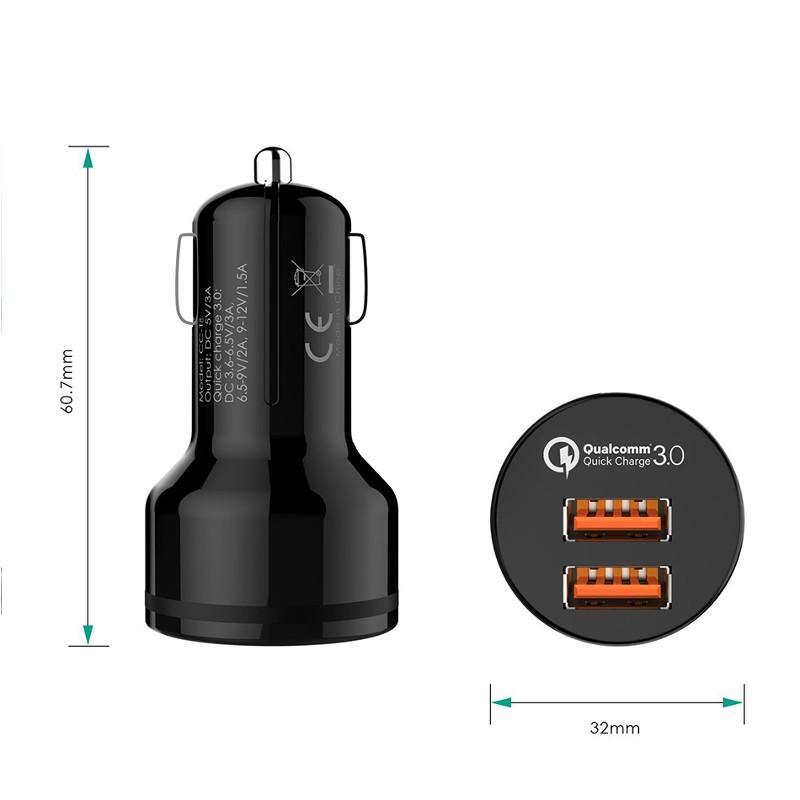 Cargador de coche CRDC CC-T8 36W QC Micro USB 3.0 - Ítem3