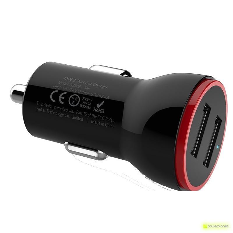 Carregador de carro 2 portos USB Mini - Item1
