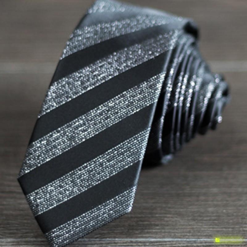 Tie Slim a listras - Homen - Item1