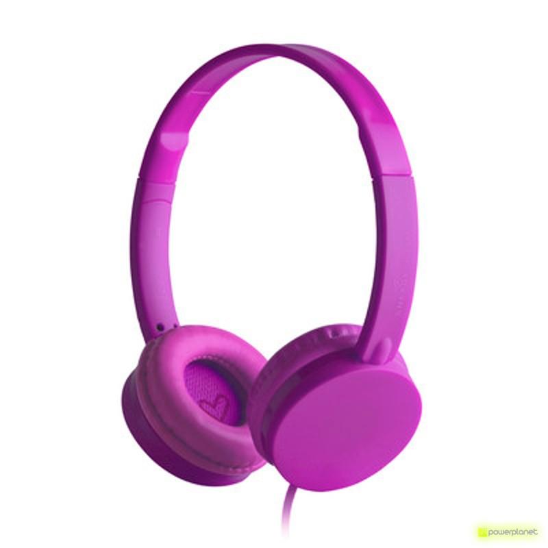 Energy Headphones Colors Grape Mic