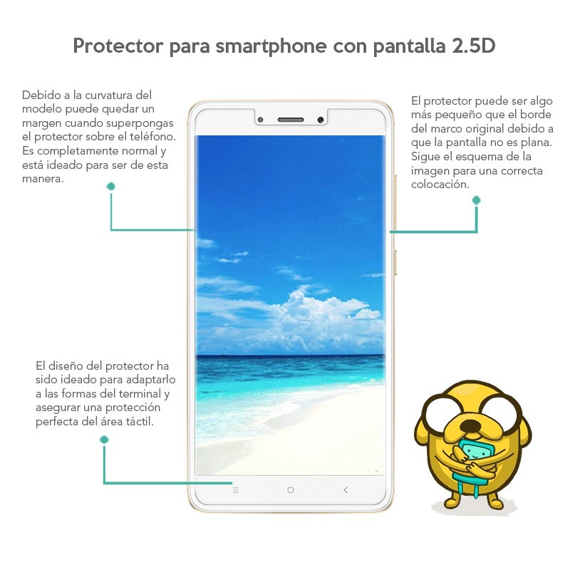Protetor de vidro temperado Xiaomi Redmi 4 - Item1