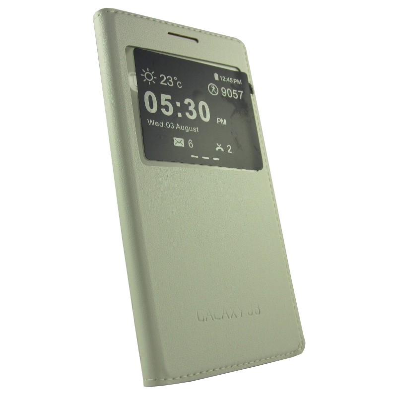 Caso tipo livro com janela Samsung Galaxy J3 - Item1
