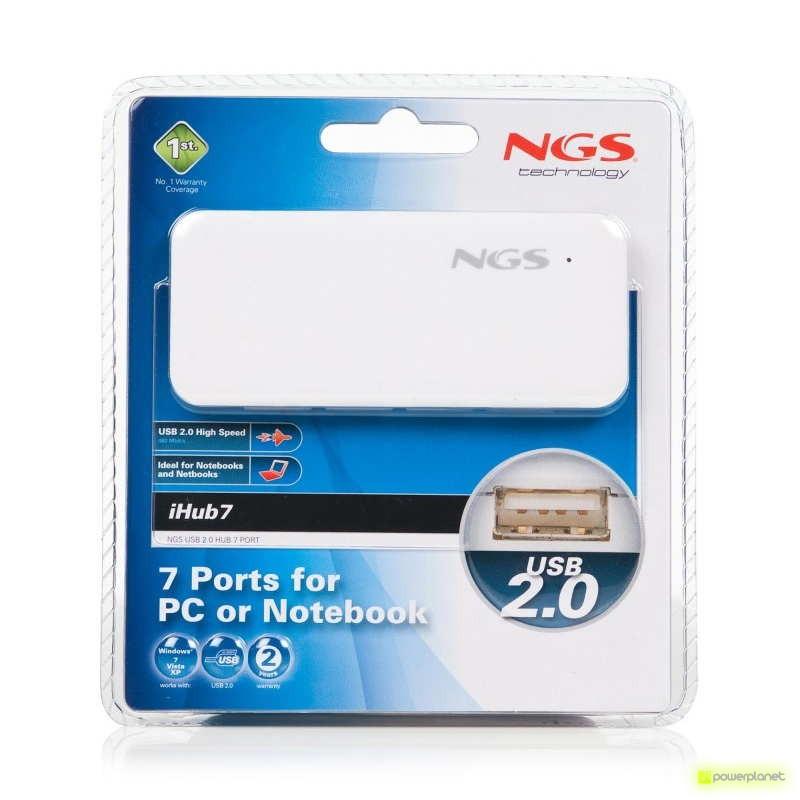 NGS iHub7 - Hub USB 2.0 con 7 puertos - Ítem3