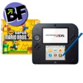 Pack Nintendo 2DS Preto/Azulado + New Super Mario Bros 2