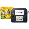 Pack Nintendo 2DS Negro/Azul + New Super Mario Bros 2