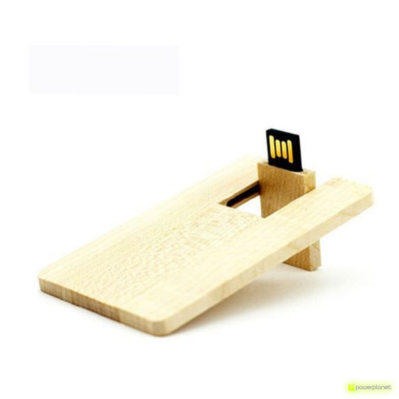 Memoria USB 8GB Wood Card - Item1