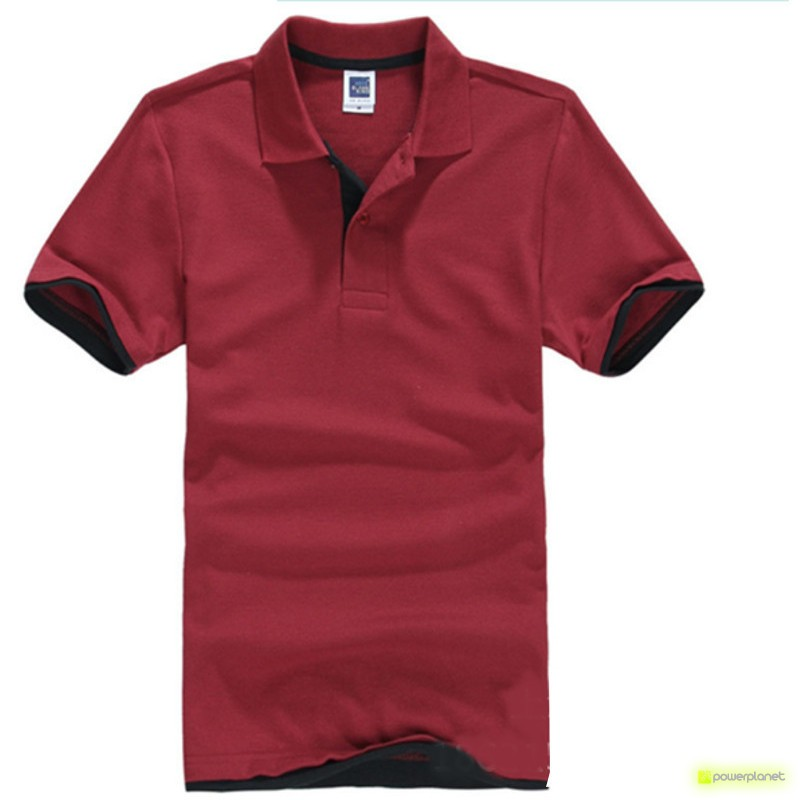 Polo Basic Granada e Preto - Homen