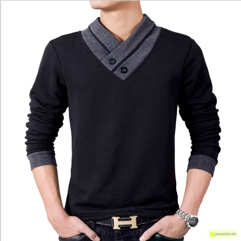 Polo Double Collar Preto - Homen - Item