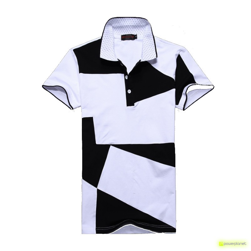 Polo Step Design Branco - Homen