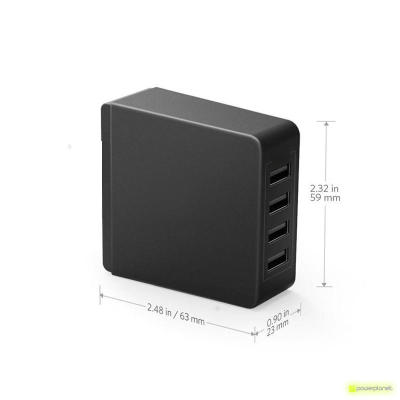 Cargador 4 puertos USB EU/UK - Ítem1