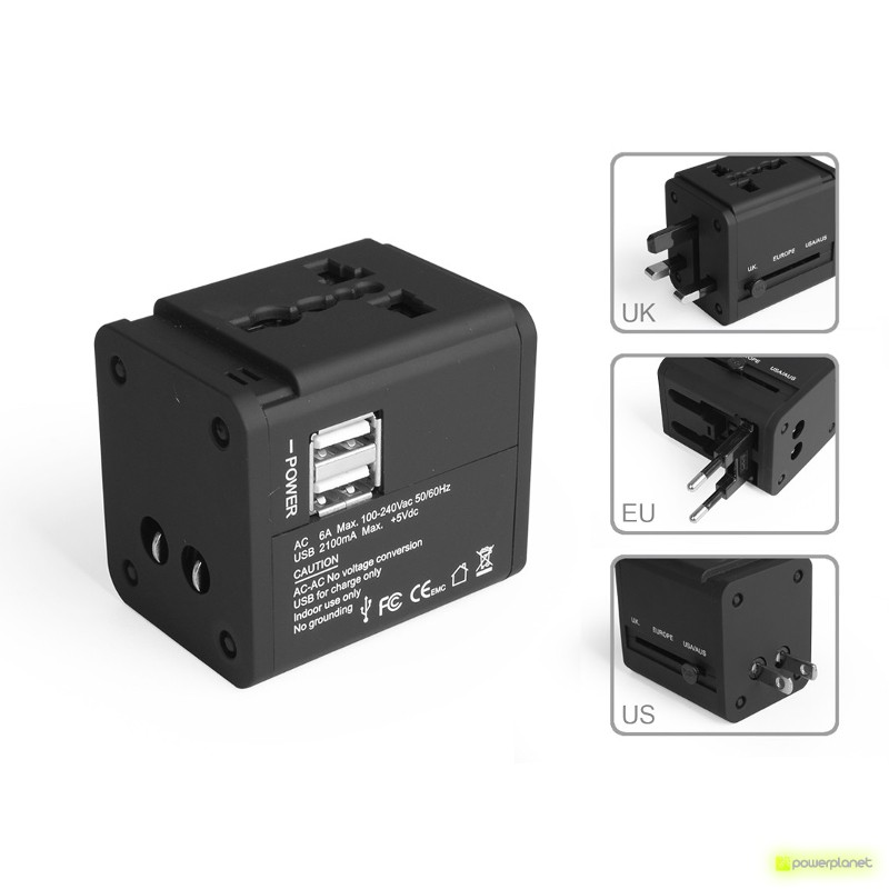 Plug Adapter AC & USB Charger - Item